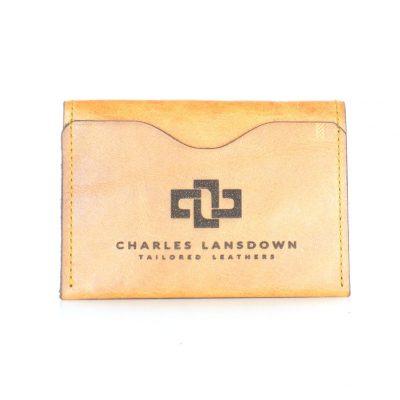 Dakota Folded Curved Card Holder Cognac 1