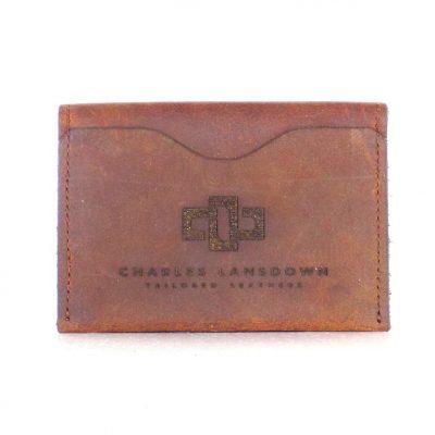 Dakota Folded Curved Card Holder Tobacco 1