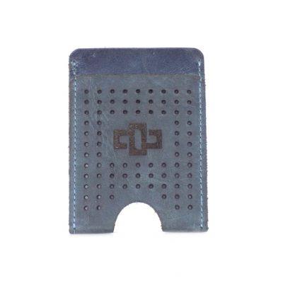 Franklin Slim Vertical Card Holder Denim
