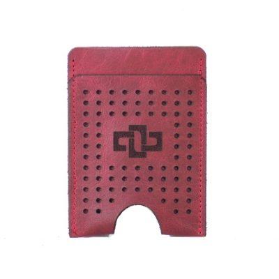 Franklin Slim Vertical Card Holder Ruby