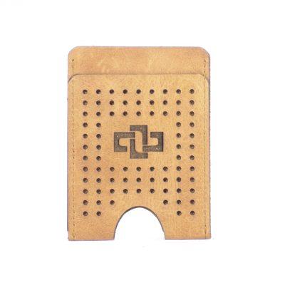 Franklin Slim Vertical V3 Card Holder Cognac