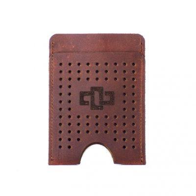 Franklin Slim Vertical V3 Card Holder Tobacco