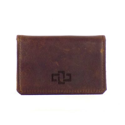 Mansfield Pouched Card Holder Tobacco 1