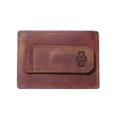 Mansfield Streamline V6 Money Clip Card Holder Tobacco 1